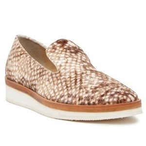 Free People Snake Eyes Brown White Loafers Flats